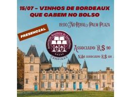 Degustação - Bordeaux que cabem no bolso - 15/07 - 19:00