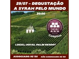 Degustação - Syrah pelo Mundo - 29/07 - 20:00