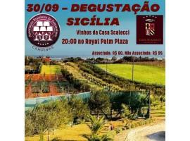 30/09 – Degustação de Vinhos Sicília