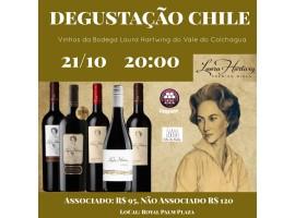21/10 – Degustação Chile, com os vinhos da Vinícola Laura Hartwig